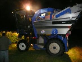 machine at night side on