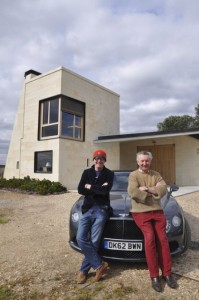 Chris with Jacques Thienpont at Le PIn, and Bentley GT