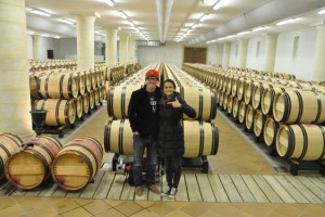 In one of the barrel cellars at Haut-Brion