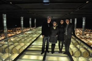 Chris and Natasha with Aymeric and Geraldine at Cos d'Estournel