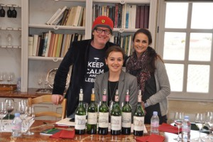 The tasting included the wines of La Mission Haut-Brion