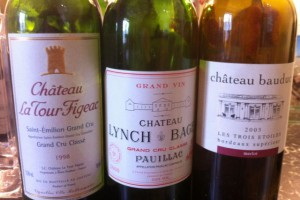 La Tour Figeac 1998, Lynch Bages 2000, Bauduc 2003