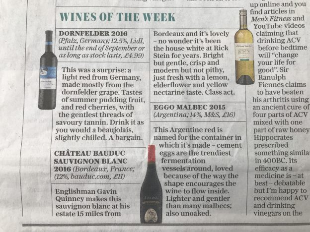 Telegraph white wine of the week